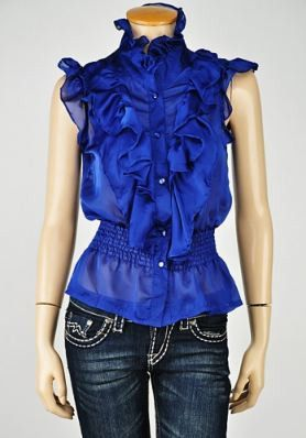 ruffle button up top