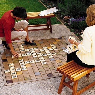 backyard scrabble no need to bring your iphone with your word with