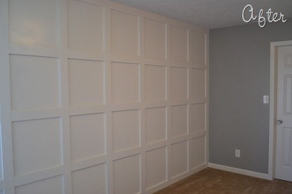 molding wall tutorial infarrantly creative. Black Bedroom Furniture Sets. Home Design Ideas