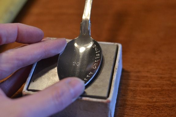 Stamped spoon ornaments infarrantly creative