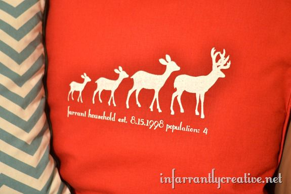deer pillow family