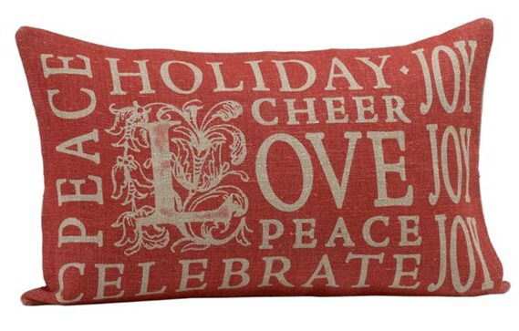 Christmas Subway Art Pillow