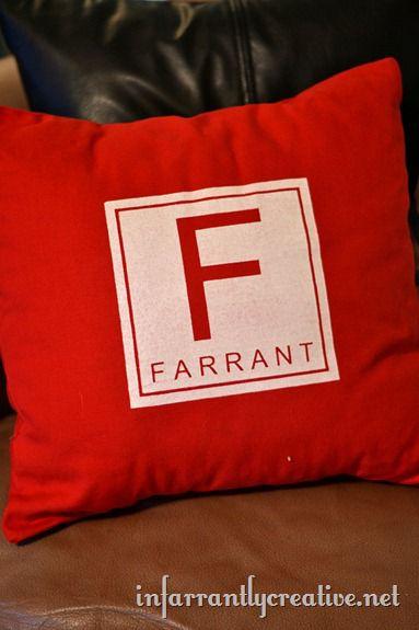 monogrammed pillow 2