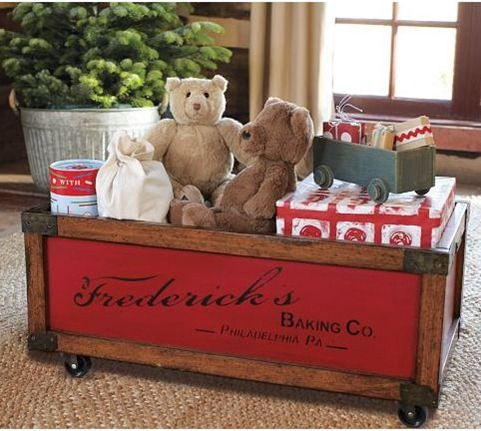 pottery barn kids toy box