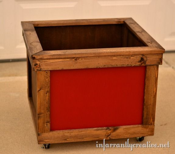rustic storage box