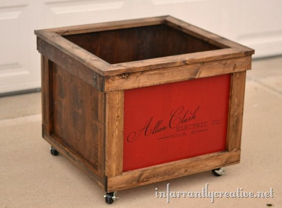 Wooden shipping crate toy box infarrantly creative for Creative crates