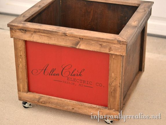 rustic toy chest