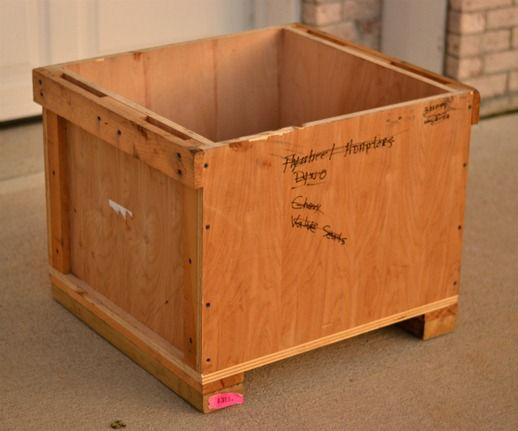 Wooden Shipping Crate Toy Box - Infarrantly Creative