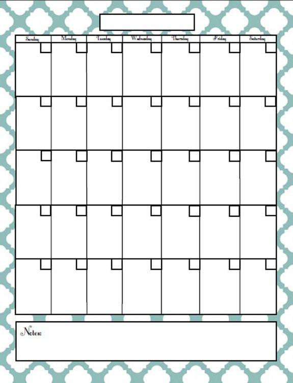free printable blog calendar