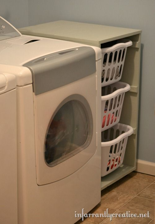 Laundry basket dresser infarrantly creative - Laundry basket ideas for small space ideas ...