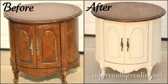 refinished round table