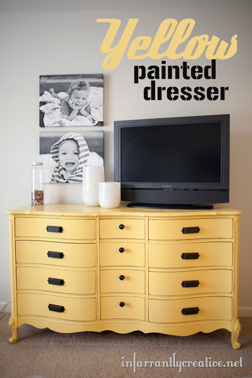 yellow-painted-dresser